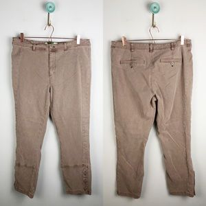 Anthropologie Buttoned Utility Pants